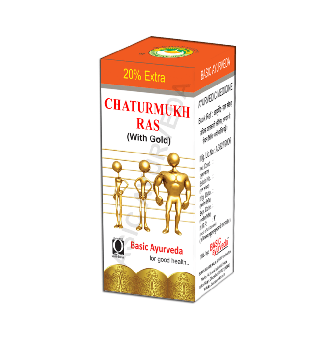 Basic Ayurveda Chaturmukh Ras with Gold