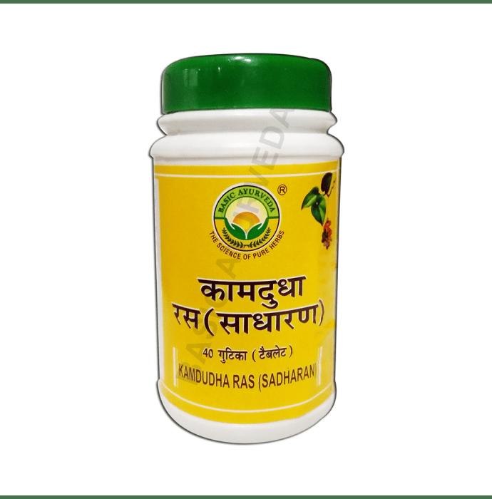 Basic Ayurveda Kamdudha Ras Tablet Pack of 2