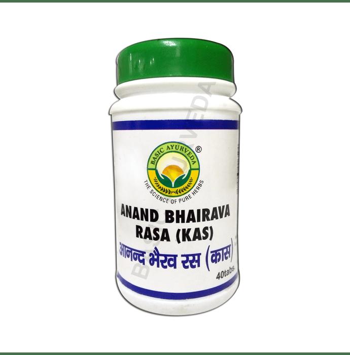 Basic Ayurveda Anand Bhairava Rasa (Kas) Tablet Pack of 3