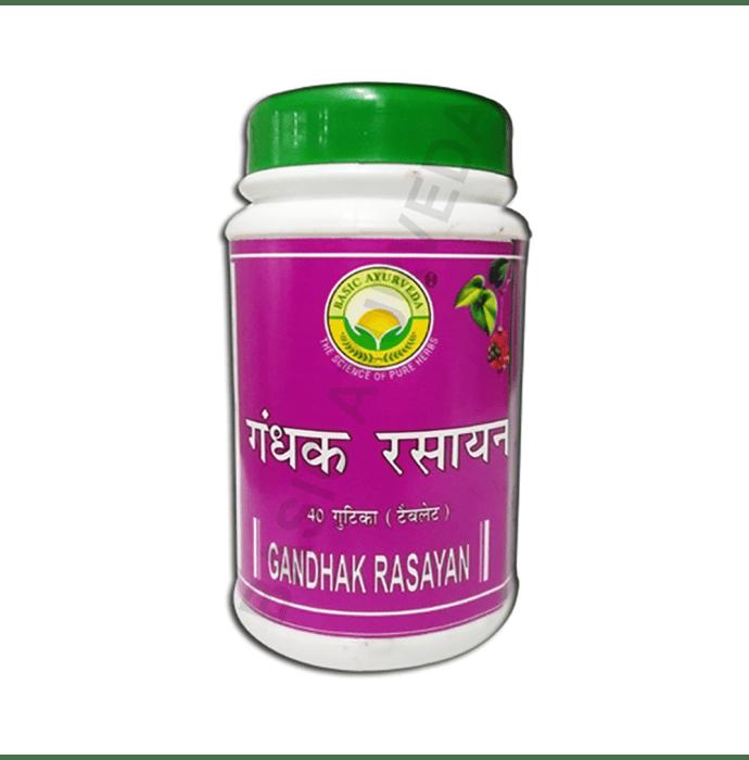 Basic Ayurveda Gandhak Rasayan Bati Pack of 2