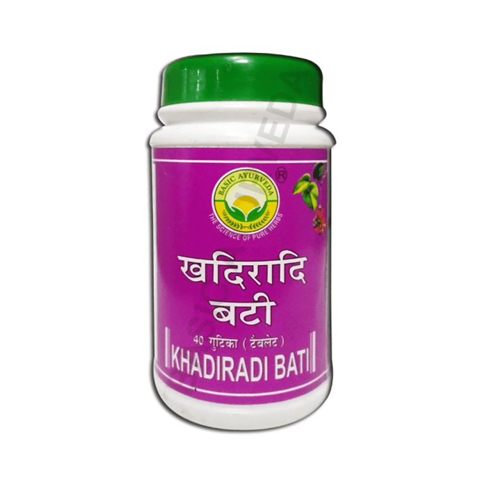 Basic Ayurveda Khadiradi Bati Pack of 2