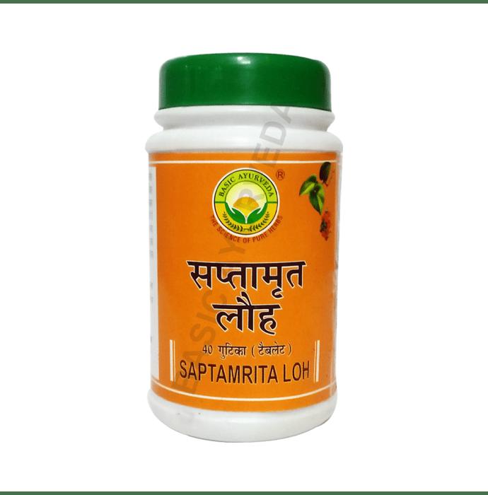 Basic Ayurveda Saptamrita Loh Tablet Pack of 2