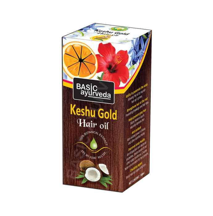 Basic Ayurveda Keshu Gold Hair Oil