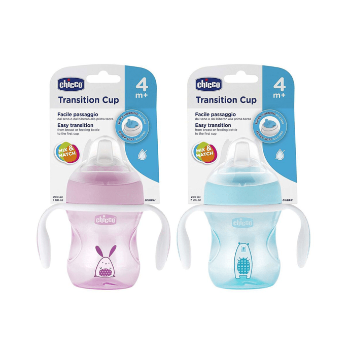 Chicco Transition Cup 4 Months Blue and Pink