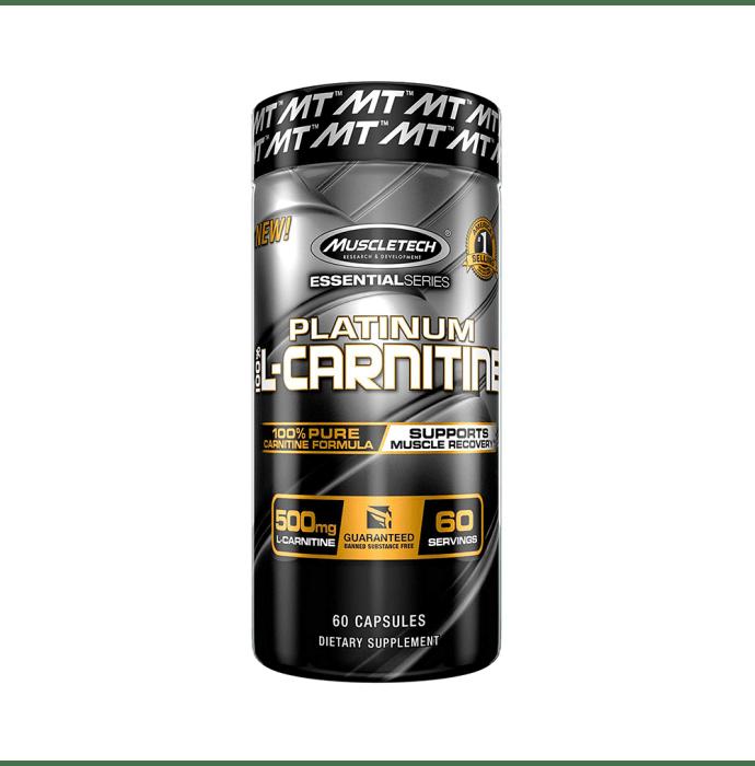 Muscletech Essential Series 100% Platinum L-Carnitine 500mg Capsule