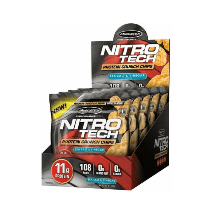Muscletech Nitro Tech Protein Crunch Chips (25gm) Sea Salt & Vinegar