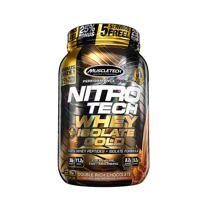 Muscletech Nitro Tech Whey Plus Isolate Gold Double Rich Chocolate
