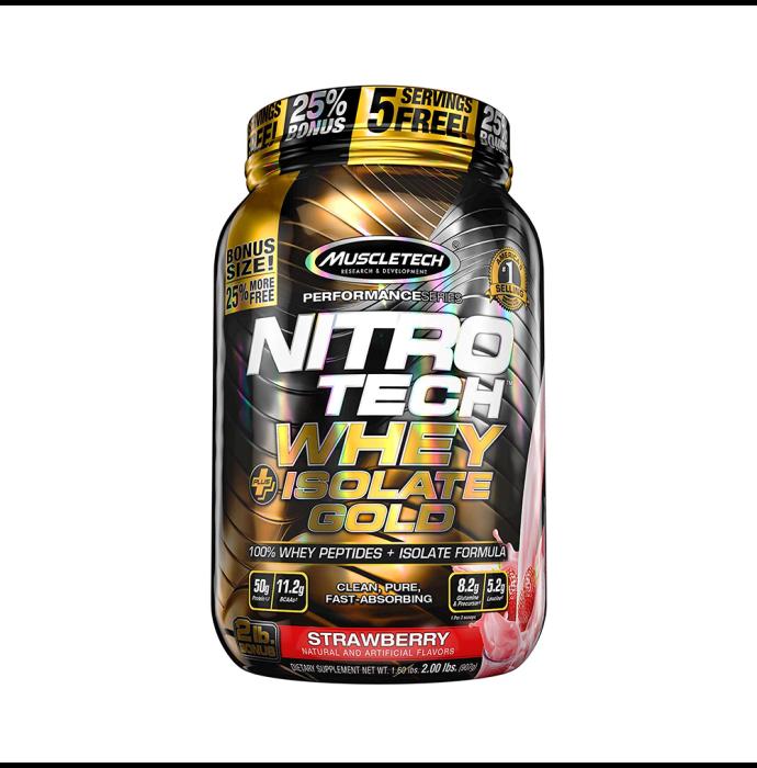 Muscletech Nitro Tech Whey Plus Isolate Gold Strawberry