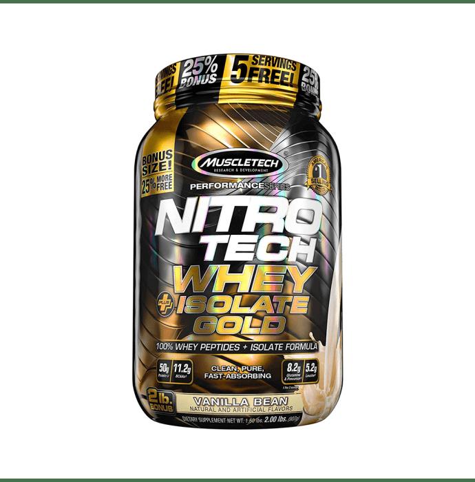 Muscletech Nitro Tech Whey Plus Isolate Gold Vanilla Bean