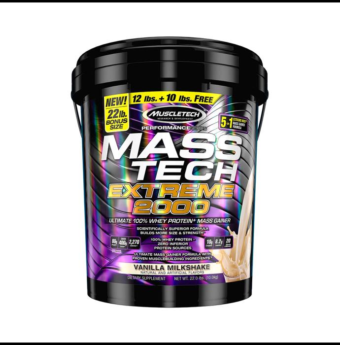 Muscletech Performance Series Mass Tech Extreme 2000 Vanilla Milkshake