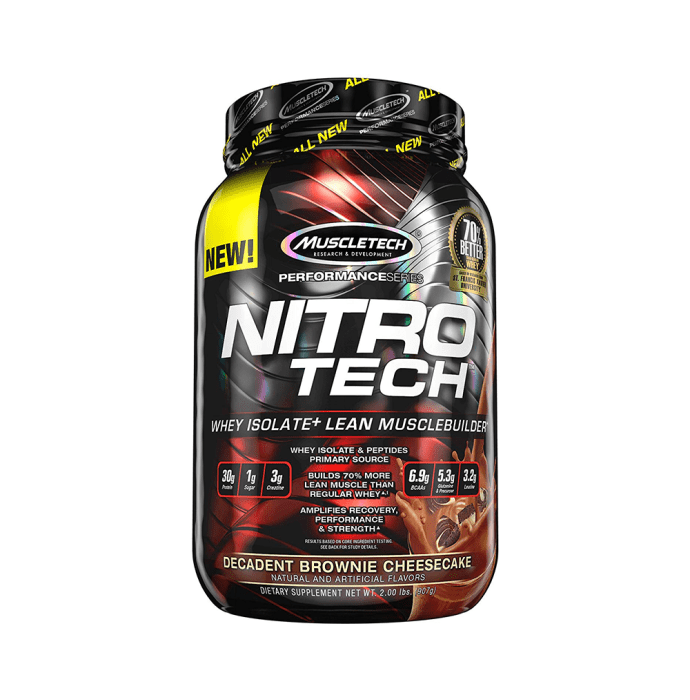 Muscletech Performance Series Nitro Tech Decadent Brownie Cheesecake