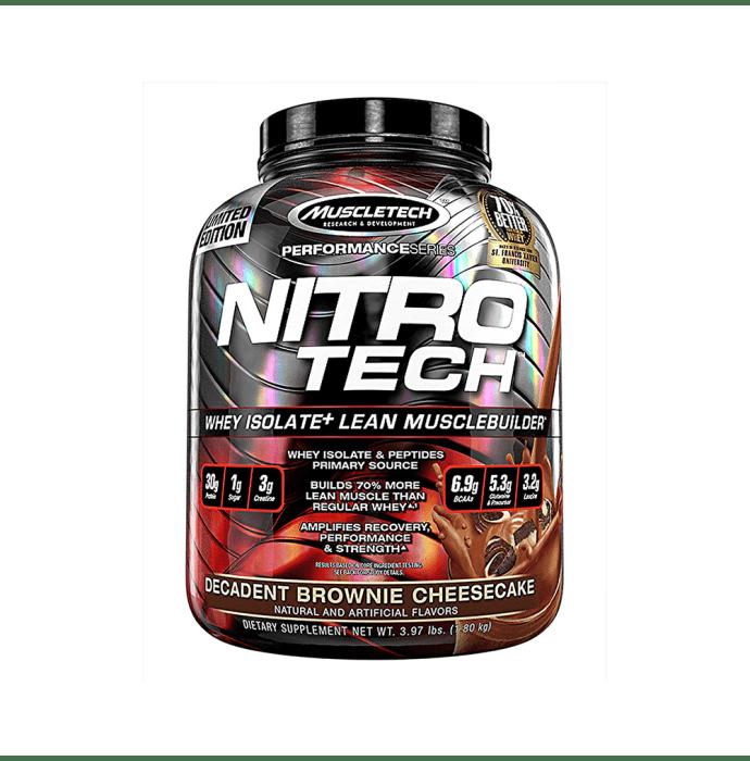 Muscletech Performance Series Nitro Tech Decadent Brownie Cheesecake