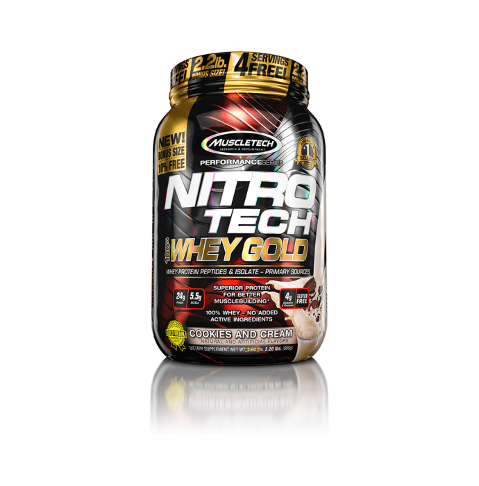 Muscletech Performance Series Nitro Tech Whey Gold Cookies & Cream