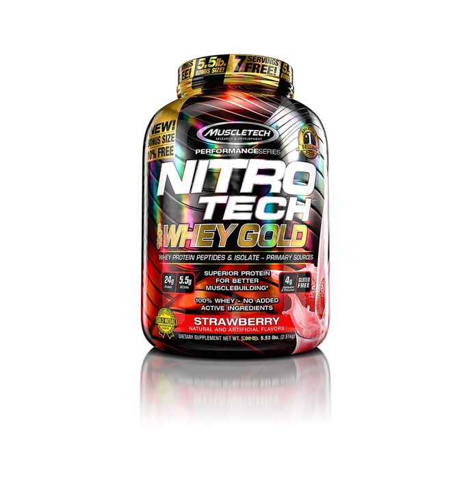 Muscletech Performance Series Nitro Tech Whey Gold Strawberry