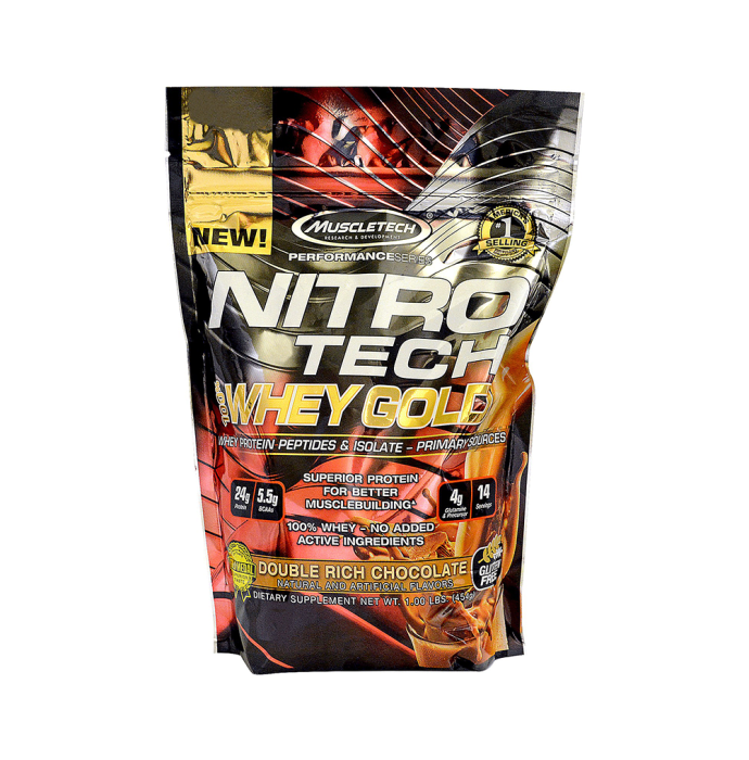 Muscletech Performance Series Nitro Tech Whey Gold Double Rich Chocolate