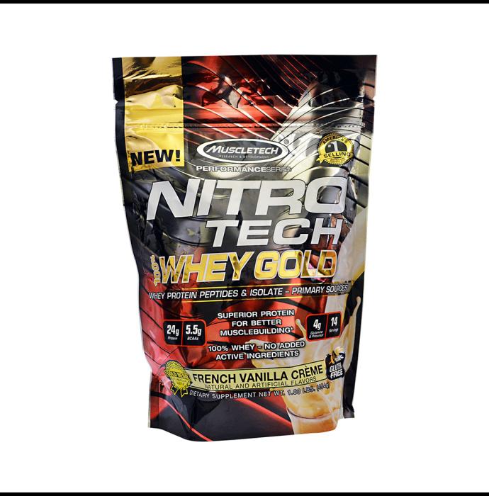 Muscletech Performance Series Nitro Tech Whey Gold French Vanilla Creme