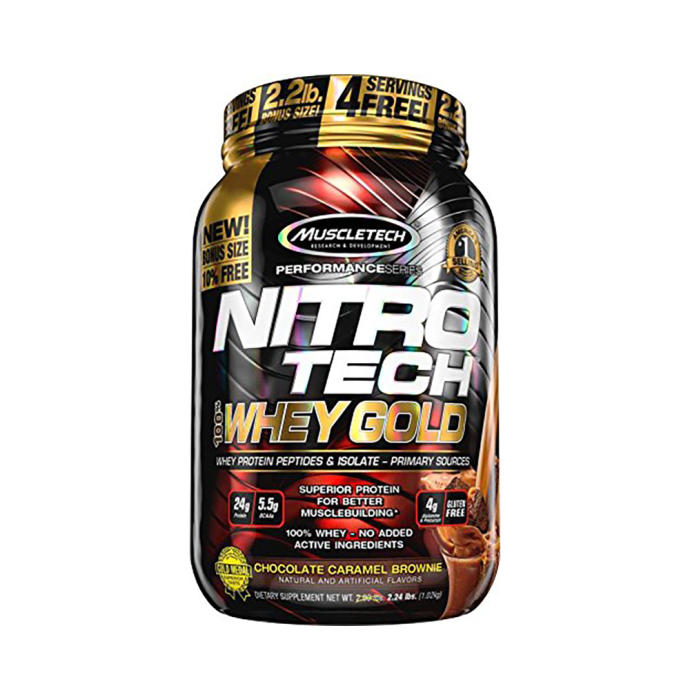 Muscletech Performance Series Nitro Tech Whey Gold Chocolate Caramel Brownie