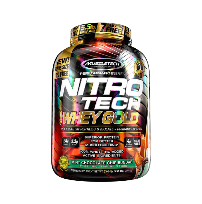 Muscletech Performance Series Nitro Tech Whey Gold Mint Chocolate Chip Sundae