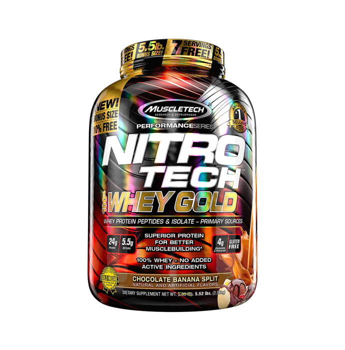 Muscletech Performance Series Nitro Tech Whey Gold Chocolate Banana Split