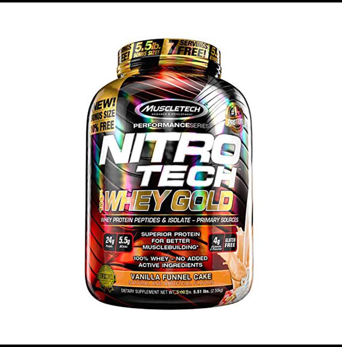 Muscletech Performance Series Nitro Tech Whey Gold Vanilla Cake