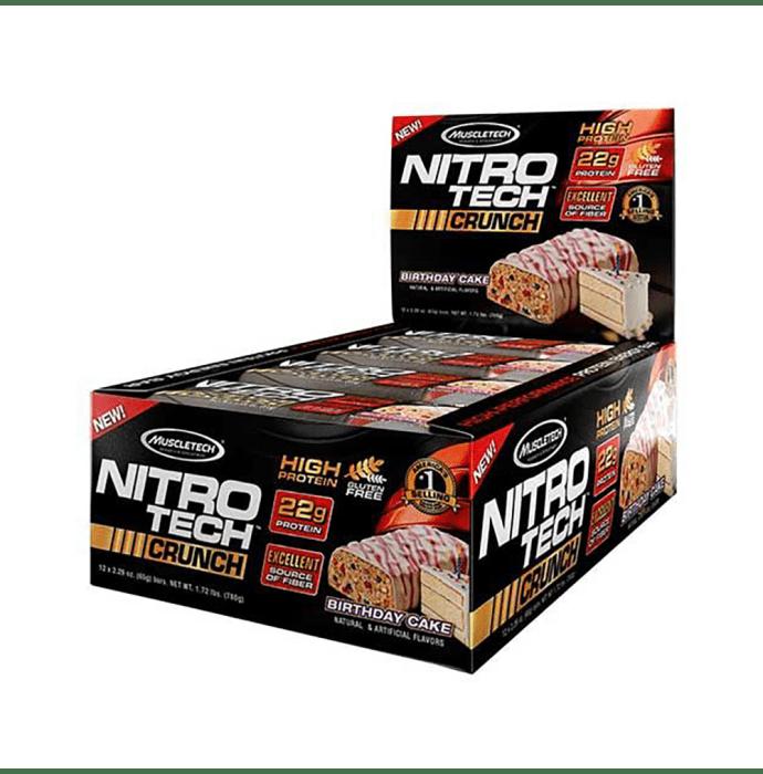 Muscletech Performance Series Nitro Tech Crunch Bar (65gm) Birthday Cake