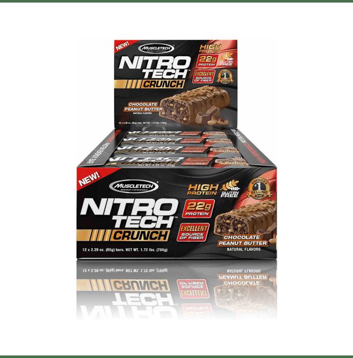 Muscletech Performance Series Nitro Tech Crunch Bar (65gm) Chocolate Peanut Butter