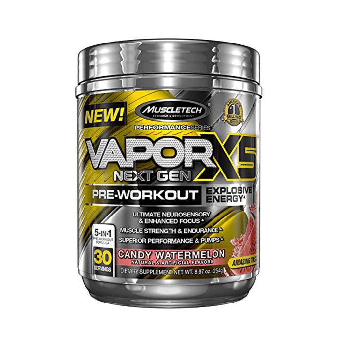 Muscletech Performance Series Vapor X5 Next Gen Pre-Workout Powder Candy Watermelon