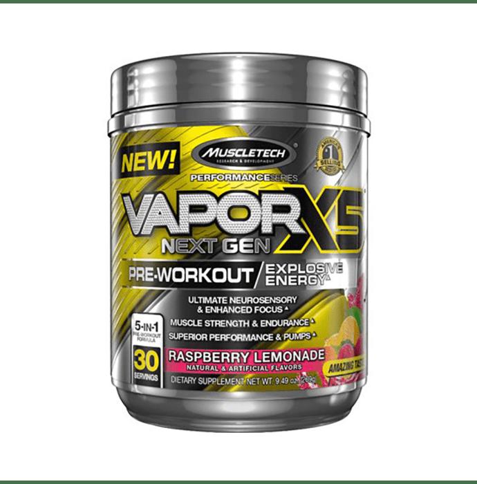 Muscletech Performance Series Vapor X5 Next Gen Pre-Workout Powder Raspberry Lemonade