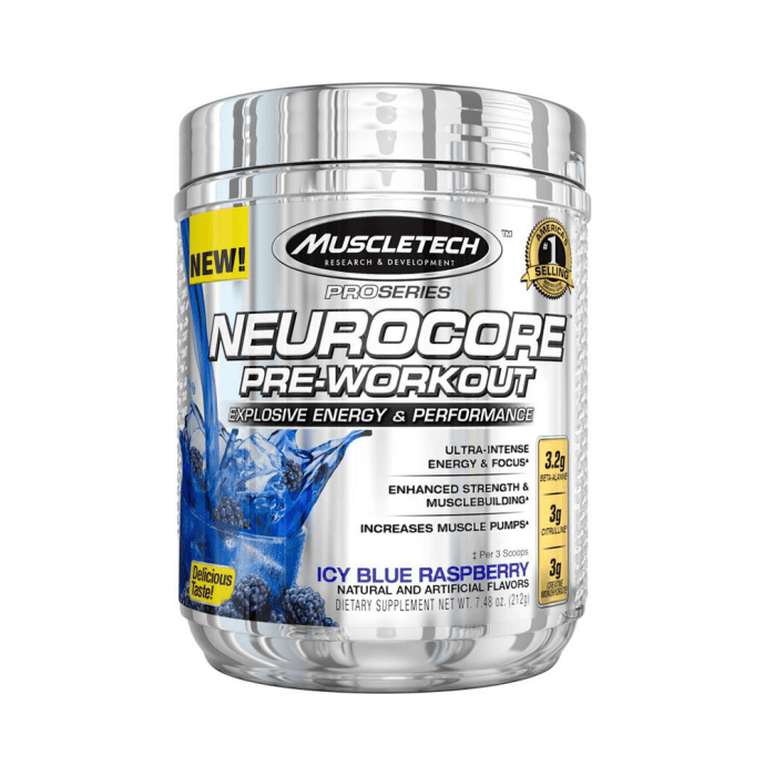 Muscletech Pro Series Neurocore Pre-Workout Powder Icy Blue Raspberry