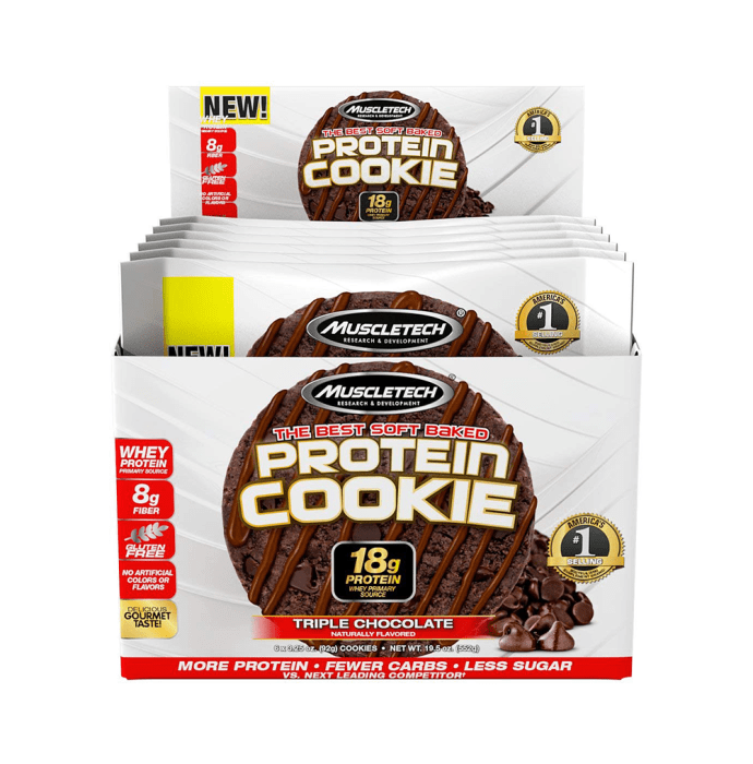 Muscletech Protein Cookie (92gm) Triple Chocolate