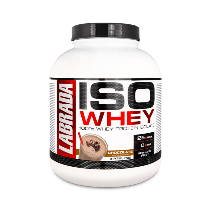 Labrada Nutrition Iso Whey 100% Whey Protein Isolate Chocolate