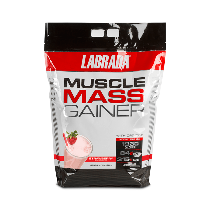 Labrada Nutrition Muscle Mass Gainer Strawberry