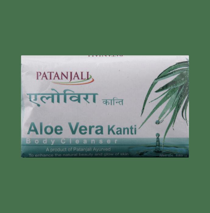 Patanjali Ayurveda Aloevera Kanti Body Cleanser Soap (3X1) 150gm