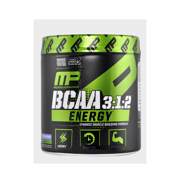 Muscle Pharm BCAA 3:1:2 Energy Powder Blue Raspberry