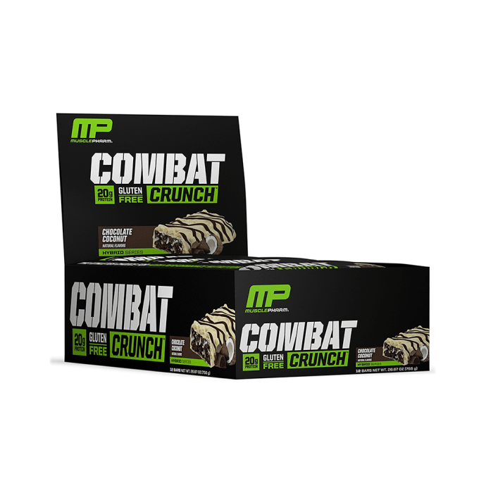 Muscle Pharm Combat Crunch Bars (63g Each) Chocolate Coconut