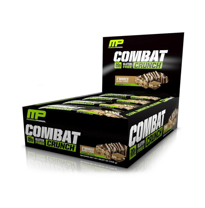 Muscle Pharm Combat Crunch Bars (63g Each) S'mores