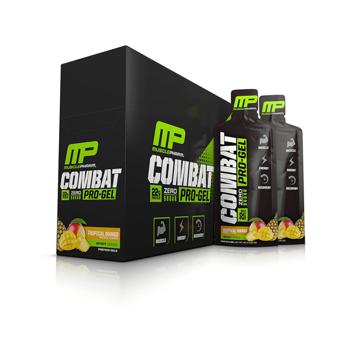 Muscle Pharm Combat Pro Gel Tropical Mango Pack of 12