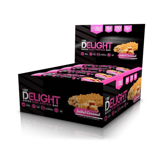 Muscle Pharm Fitmiss Delight Protein Bars Salted Caramel