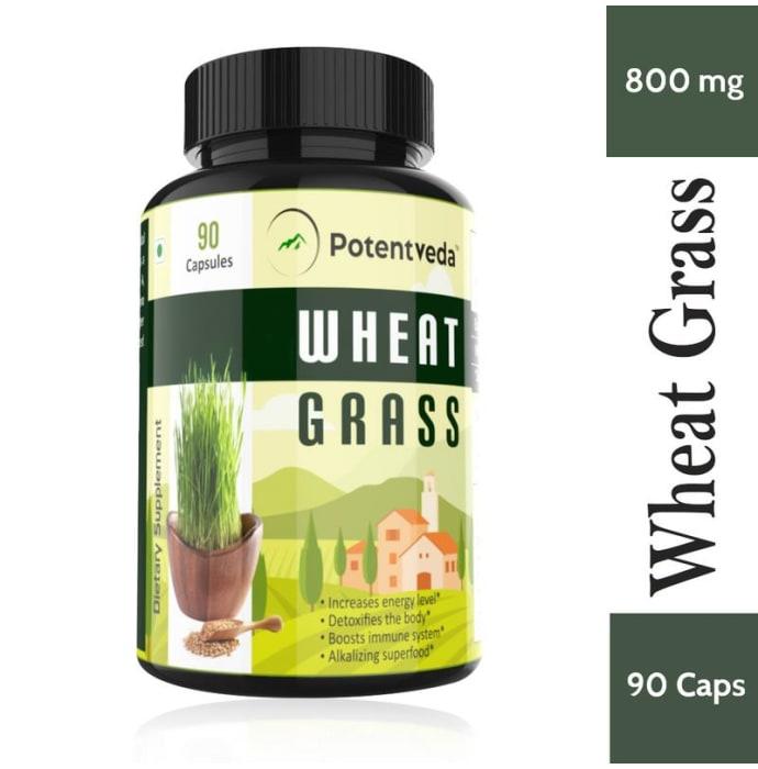 Potentveda Wheatgrass 800mg Capsule