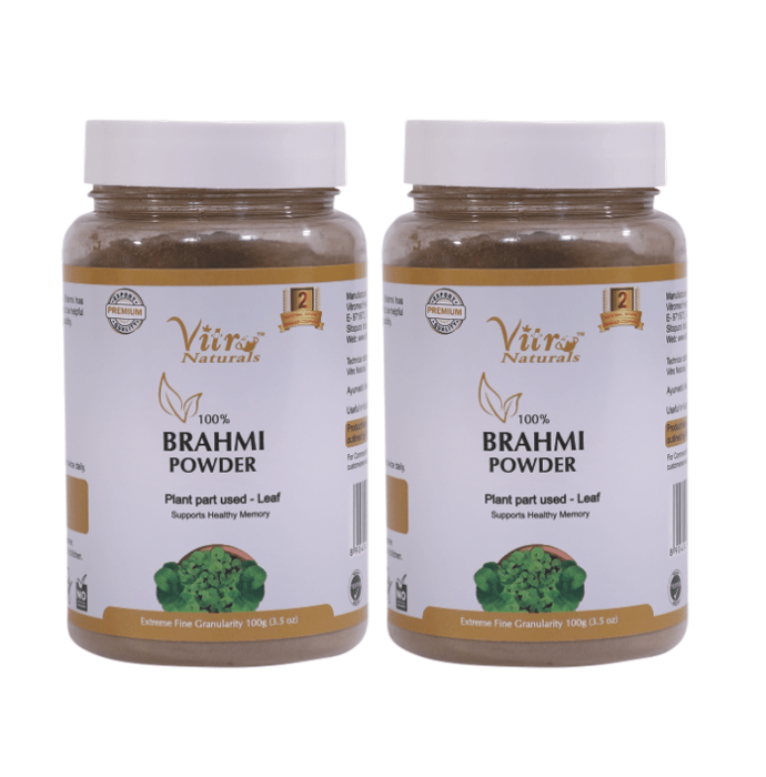 Vitro Naturals 100% Brahmi Powder Pack of 2