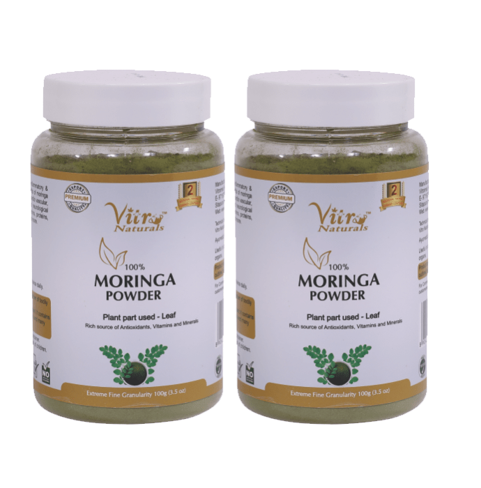 Vitro Naturals 100% Moringa Powder Pack of 2