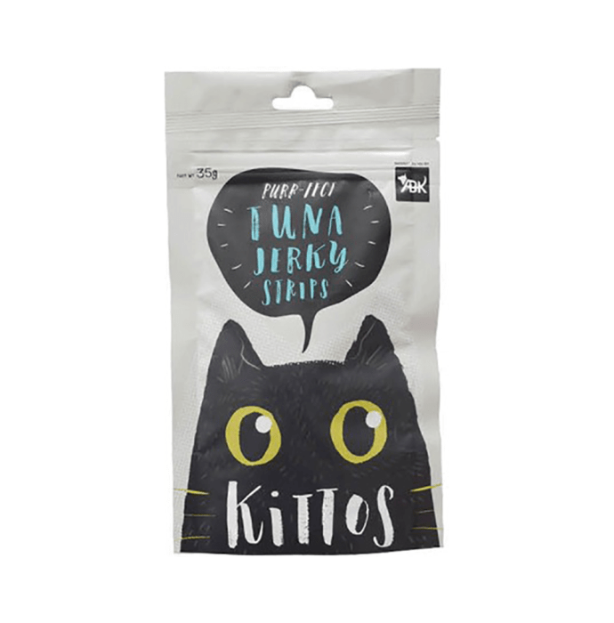 Kittos Tuna Jerky Strips For Cats Pack of 3