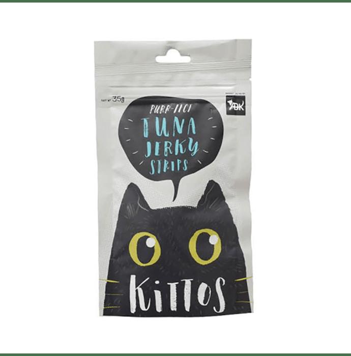 Kittos Tuna Jerky Strips For Cats