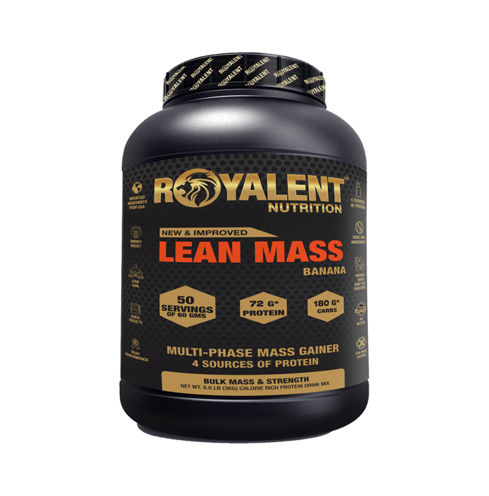 Royalent Nutrition Lean Mass Gainer Banana