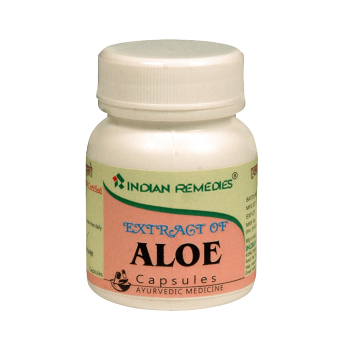 Indian Remedies Extract of Aloe Capsule