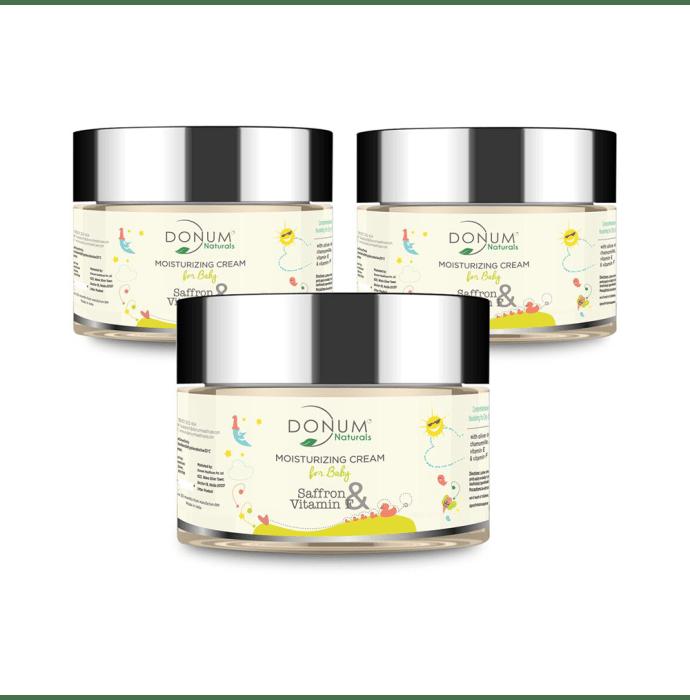 Donum Naturals Saffron & Vitamin F Moisturising Cream for Baby Pack of 3