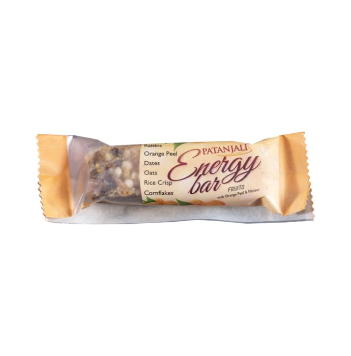Patanjali Ayurveda Energy Bar with Orange Peel Pack of 6