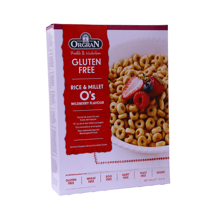 Orgran Rice & Millet Breakfast O's Wildberry Flavour