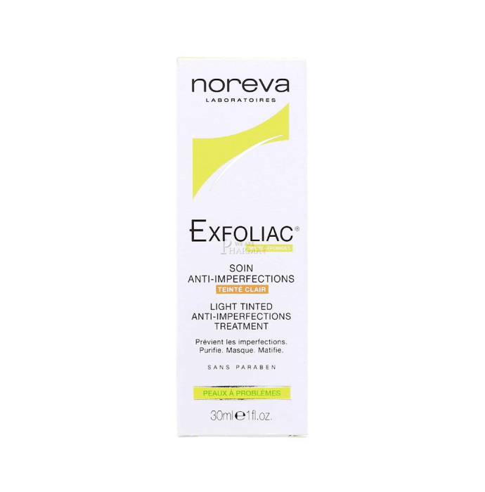 Noreva Exfoliac Light Tinted Anti - Imperfections Care