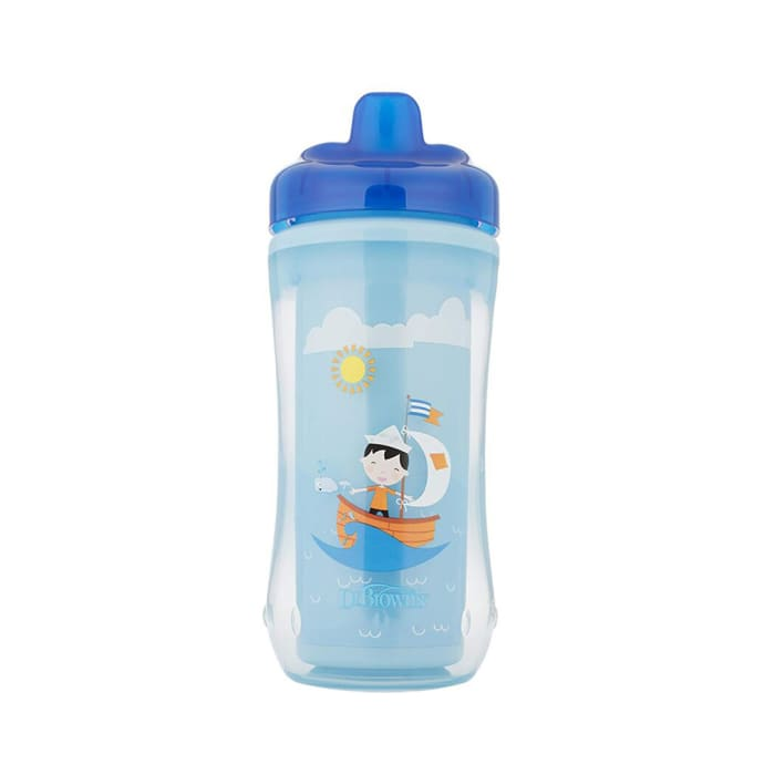 Dr. Brown's Hard Spout Insulated Cup Assorted Blue